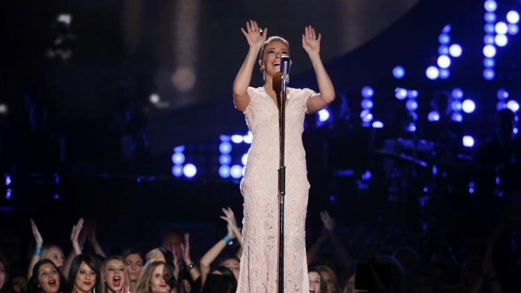 Rimes performs a medley of Pasty Cline songs during the 4th annual American Country Awards in Las Vegas