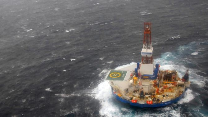 Storm impedes salvage of grounded drilling ship