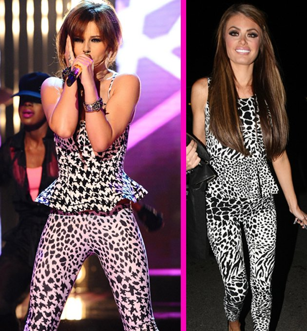Cheryl Cole and Chloe Sims