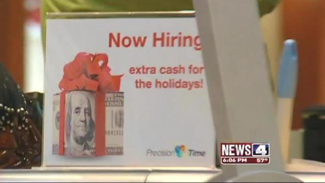 Seasonal jobs widely available, though many aren't being filled