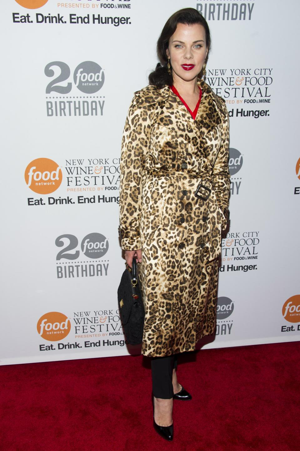 Debi Mazar attends the Food Network's 20th birthday party on Thursday, Oct. 17, 2013, in New York. (Photo by Charles Sykes/Invision/AP)