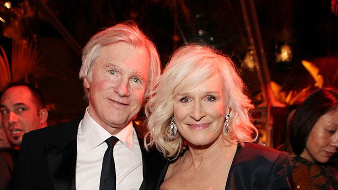 The Weinstein Company's 2013 Golden Globe Awards After Party Presented By Chopard, HP, Laura Mercier, Lexus, Marie Claire, And Yucaipa Films - Red Carpet: Glenn Close and David Shaw