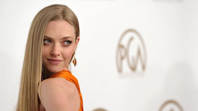 Amanda Seyfried arrives at the 24th Annual Producers Guild Awards at the Beverly Hilton Hotel on Saturday Jan. 26, 2013, in Beverly Hills, Calif. (Photo by John Shearer/Invision/AP Images)