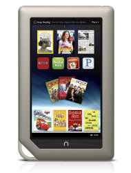 <p>               FILE - This file product image provided by Barnes & Noble Inc., shows the new $249 Nook Tablet, which was unveiled Monday, Nov. 7, 2011, in New York. Barnes & Noble Inc. and Microsoft Corp. are teaming up to create a new Barnes & Noble subsidiary that will house the digital and college businesses of the bookseller and include a Nook application for Windows 8. The companies said Monday, April 30, 2012 that they are exploring separating those businesses entirely. That could mean a stock offering, sale, or other deal could happen.   (AP Photo/Barnes & Noble Inc., File)