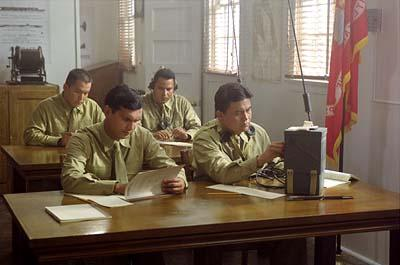 Adam Beach (front left) and Roger Willie (front right) in MGM's Windtalkers