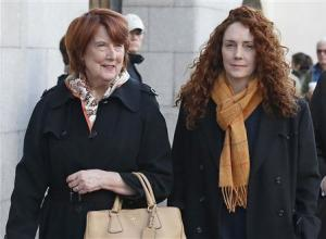 Former News International chief executive Rebekah Brooks arrives with her mother Deborah Wade at the Old Bailey courthouse in London