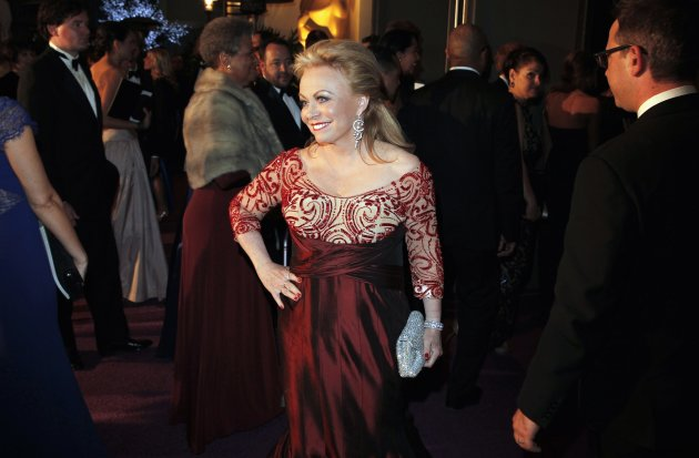 Australian actress Jacki Weaver arrives at the Governors Ball for the 85th Academy Awards in Hollywood