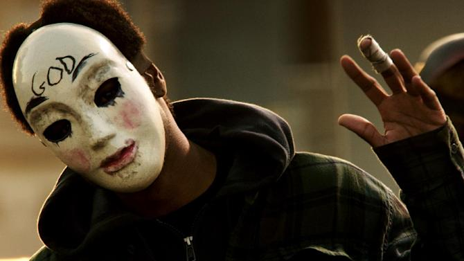 "This image released by Universal Pictures shows a scene from ""The Purge: Anarchy."" (AP Photo/Universal Pictures)"