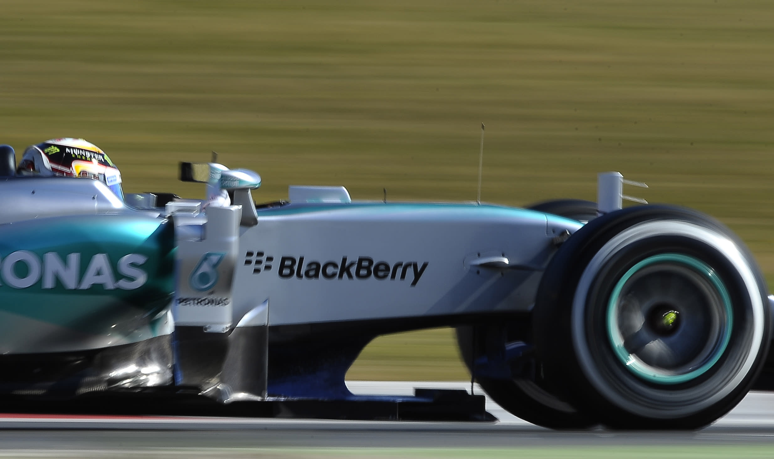 Hamilton hones Mercedes with fastest time at F1 testing
