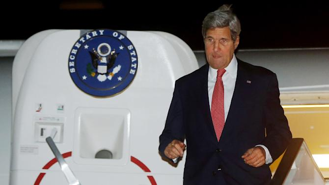 US Secretary of State John Kerry arrives in Cairo, Egypt, July 21, 2014