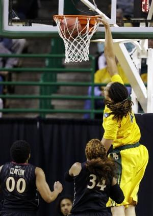 Griner has 3 dunks, Baylor women rout Florida St