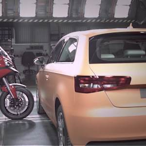 2015 Ducati Multistrada D|Air Crash Test