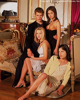 Reese Witherspoon , Sarah Michelle Gellar , Selma Blair and Ryan Phillippe in Columbia's Cruel Intentions