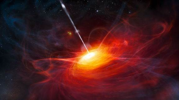 Distant Black Hole Reveals Chemistry of the Early Universe