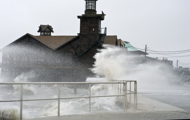 High winds, high tide strike at the main street of Cedar Key, Fla., as Tropical Storm Debby makes it&#39;s way across the Gulf of Mexico early Sunday, June 24, 2012. Parts of Florida, including the Panhandle, remain under a tropical storm warning as Debby churns off the Gulf Coast. (AP Photo/Phil Sandlin)