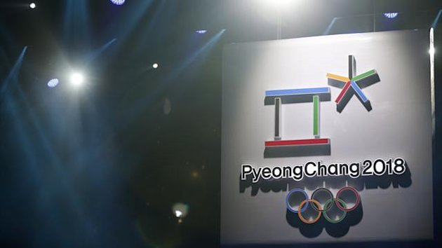 The emblem of the PyeongChang 2018 Olympic Winter Games is seen during its Launch Ceremony in Seoul May 3, 2013 (Reuters)