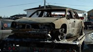 The burned-out remains of Sergei Kostin's cab were found at the end of Downey Road in North Preston,