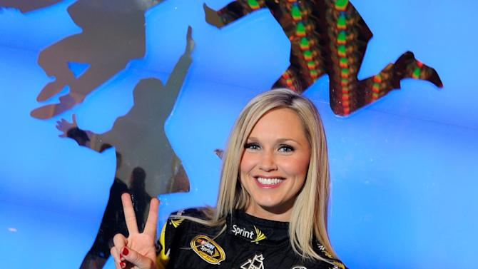 Miss Sprint Cup Visits The Cast Of The Beatles LOVE
