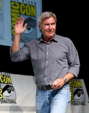 Harrison Ford is seen onstage at the 'Ender's Game' press conference during Comic-Con International 2013 at San Diego Convention Center on July 18, 2013 in San Diego -- Getty Images