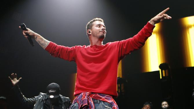 Singer J Balvin performs during the first-ever iHeartRadio Fiesta Latina at The Forum in Inglewood