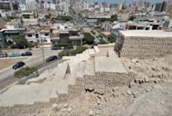 "An ancient archaeological site sits in a residential district in Lima. Pre-Inca archeological sites abound in Lima, where the ruins of hundreds of sacred places, or ""huacas"", are at the mercy of urban growth and public indifference"