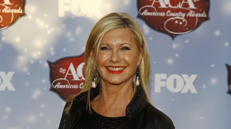 Singer Olivia Newton-John arrives at the 4th annual American Country Awards in Las Vegas