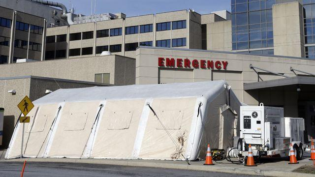 Flu outbreak forces Pennsylvania hospital to set up ER tent