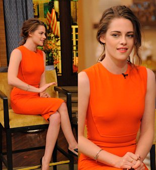 Another Kristen Stewart Style Hit! This Time She Wows In Orange Victoria Beckham Dress