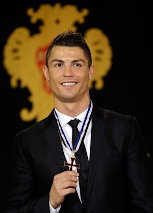 Ronaldo gets top Portuguese honor from president