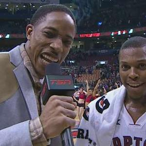 DeRozan Interviews Lowry