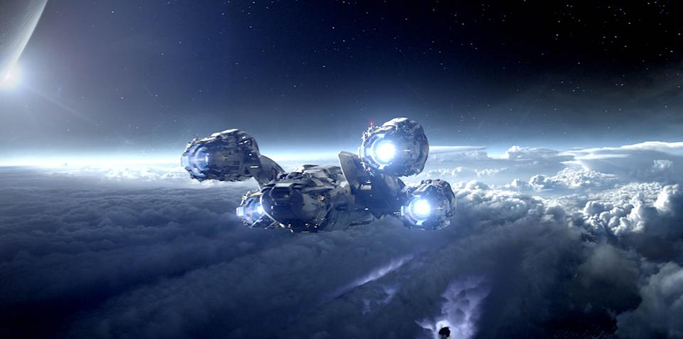 "This film image released by 20th Century Fox shows a scene from ""Prometheus."" (AP Photo/20th Century Fox)"