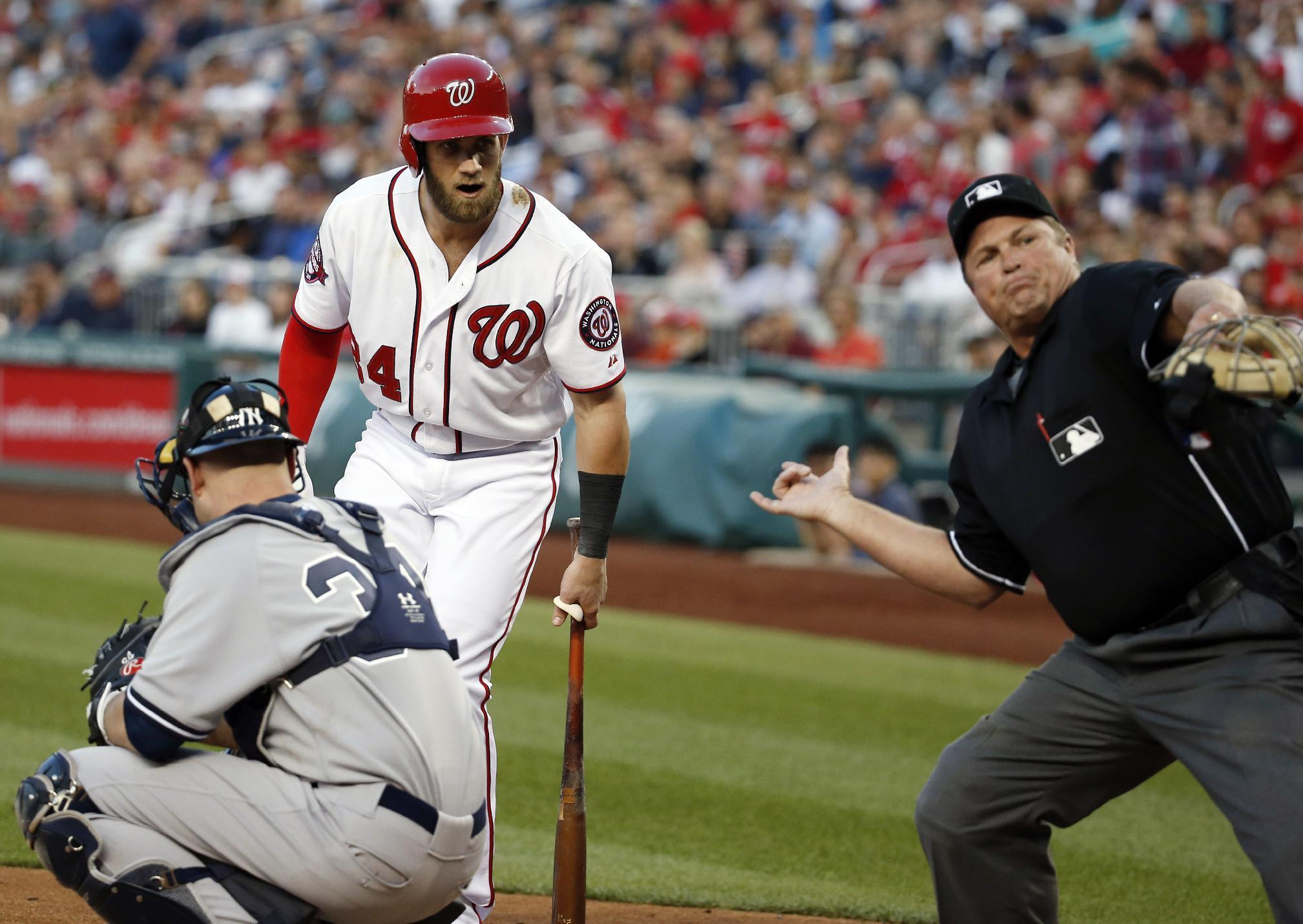 From HRs to ejections, rarely a dull moment for Bryce Harper