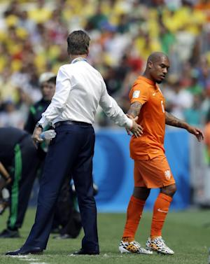 Groin tear likely ends Nigel de Jong's World Cup
