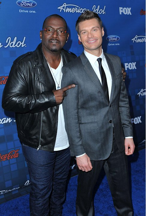 "Randy Jackson and Ryan Seacrest arrive at the ""American Idol"" Top 13 Finalists Party on Thursday, March 3, 2011 at The Grove in Los Angeles, CA."