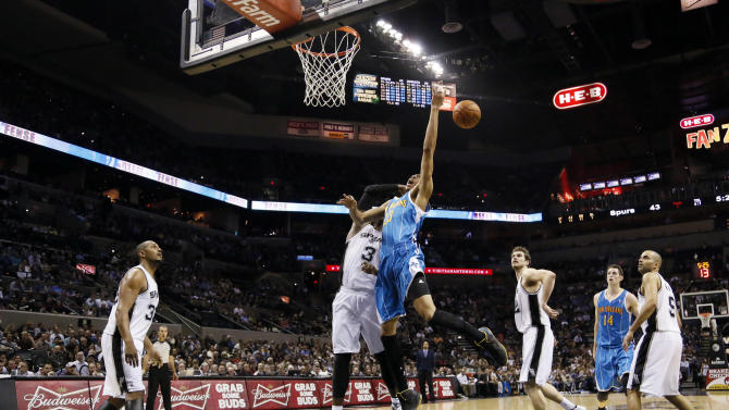 NBA: New Orleans Hornets at San Antonio Spurs