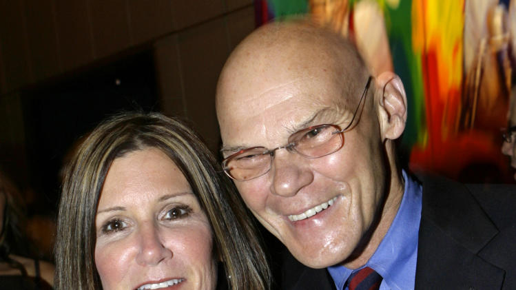 "FILE - This April 18, 2007 file photo shows married political strategists James Carville, right, and Mary Matalin at a party held by CNN celebrating Larry King's fifty years of broadcasting, in New York. Carville and Matalin have a deal with Blue Rider Press for a memoir with the working title ""You Can Go Home Again."" Blue Rider, an imprint of Penguin Group (USA) said the book is scheduled for 2014. (AP Photo/Stuart Ramson, file)"
