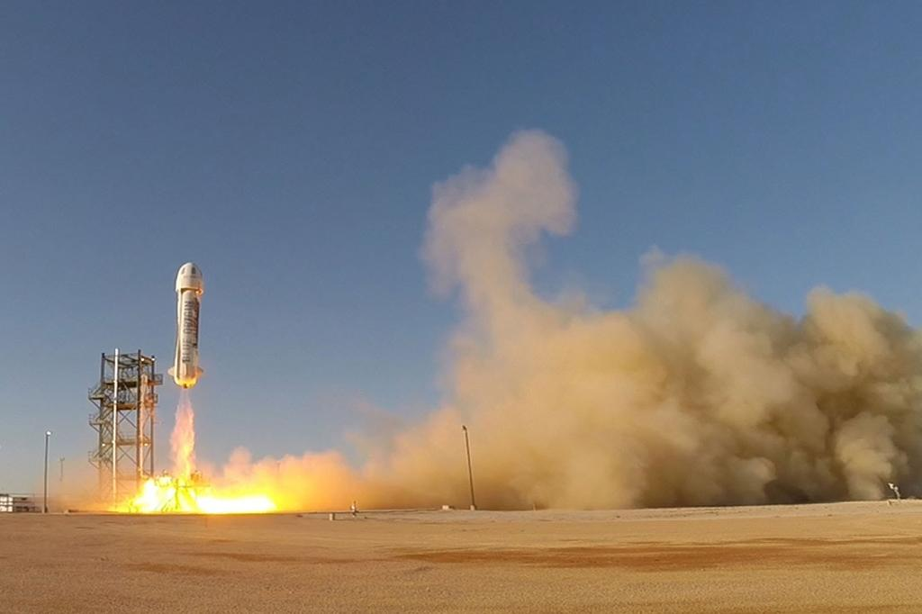 Bezos space firm claims reusable rocket breakthrough