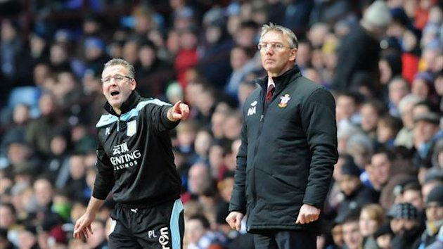 Paul Lambert and Nigel Adkins, Aston Villa v Southampton