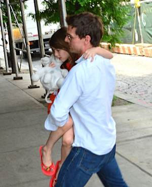 Tom Cruise is reunited with daughter Suri for the first time since his split from Katie Holmes in New York City on July 17, 2012 -- WireImage