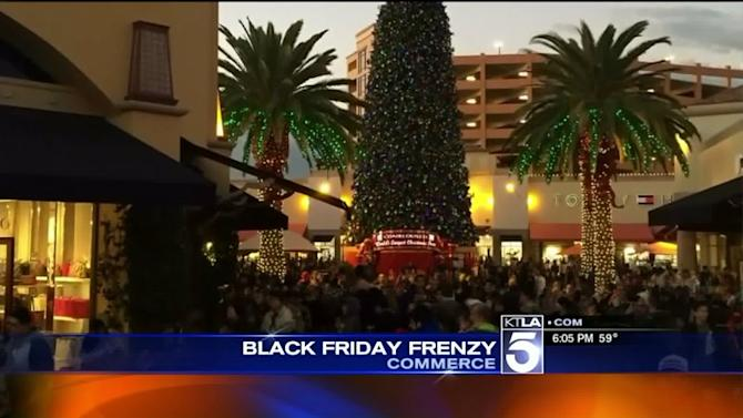 Black Friday Shoppers Descend on Citadel Outlets Shopping Center in Commerce