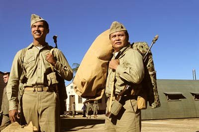 Adam Beach and Roger Willie in MGM's Windtalkers