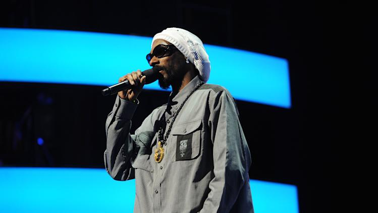 IMAGE DISTRIBUTED FOR MTV - Special guest Snoop Lion at the 2013 MTV Upfront, on Thursday, April 25, 2013 at the Beacon Theater in New York. (Photo by Scott Gries/Invision/AP Images)