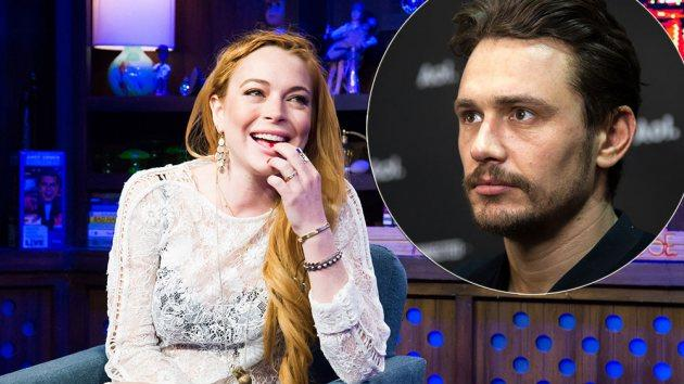 Lindsay Lohan on April 17, 2014 / inset: James Franco -- Getty Images
