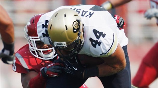 Nick Kasa #44 of the Colorado Buffaloes during the game against the Washington State Cougars at Martin Stadium (AFP)