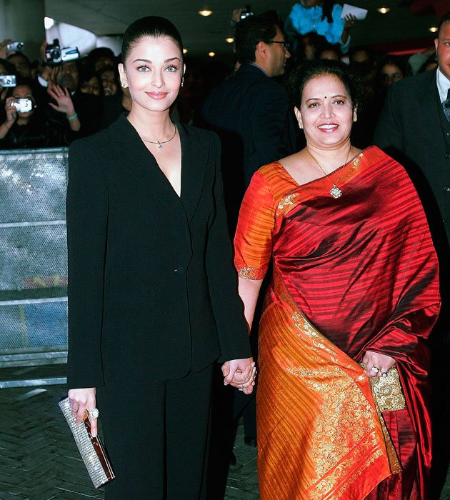 Image result for aishwarya rai with her mom