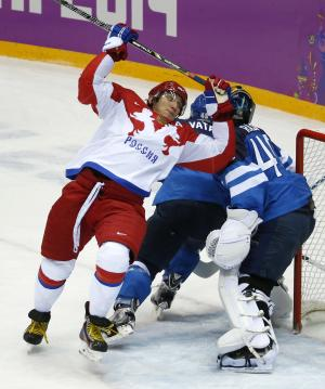 Russia ousted in Olympic men's hockey quarterfinal