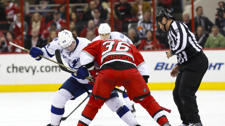 NHL: Tampa Bay Lightning at Carolina Hurricanes