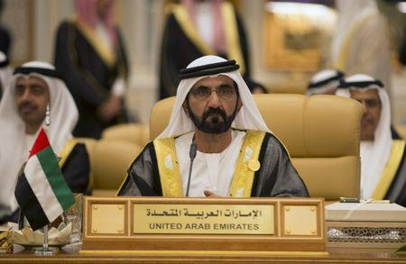 Sheikh Mohammed bin Rashid Al Maktoum, PM and VP of the UAE and ruler of Dubai, attends the Summit of South American-Arab Countries, in Riyadh