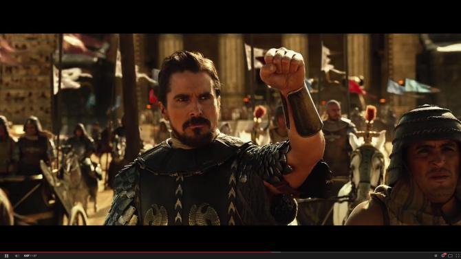 "Christian Bale as Moses in ""Exodus: Gods and Kings"""
