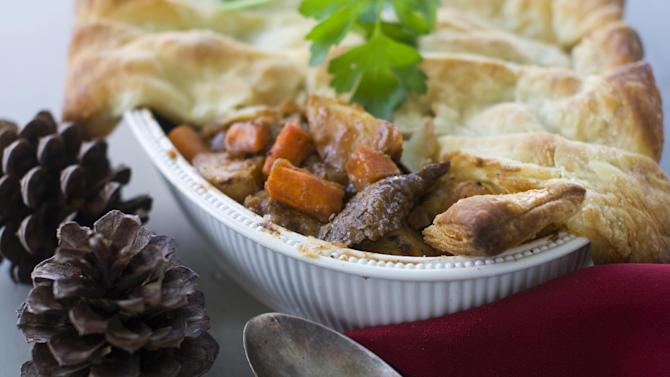 In this image taken on Nov.12, 2012, Beef Potpie is shown in Concord, N.H. (AP Photo/Matthew Mead)